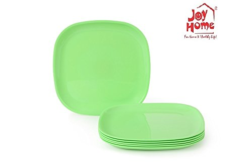 Joy Home Microwave Safe Full Plate 6 Pcs Square Green