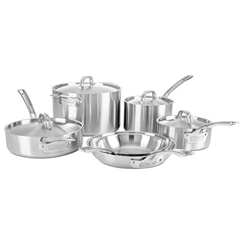 Viking Professional 5-Ply Stainless Steel Cookware Set, 10 Piece from Viking Culinary