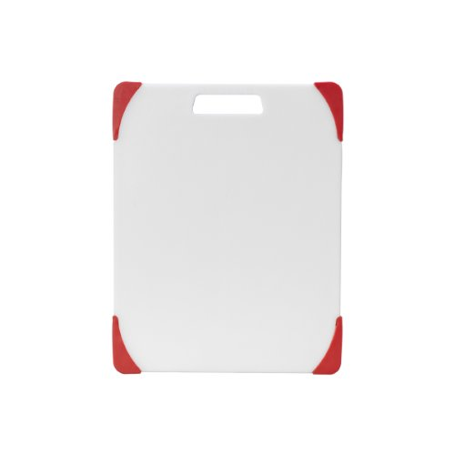 - Farberware Nonslip Plastic Cutting Board, 11-Inch-by-14-Inch, White/Red