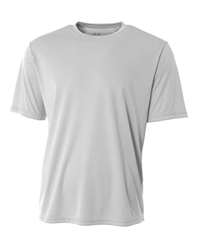 Authentic Sports Shop Silver Adult 4X Short Sleeve Wicking Cool & Comfortable Shirt/Undershirt ()