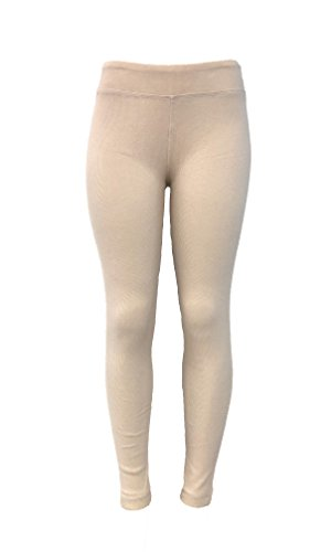 LADIES - Cotton Spandex Rib Knit Legging Pant
