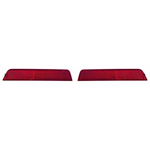 Fits Chevrolet Equinox 2010-2015 Rear Reflector Lamp Unit Pair Driver and Passenger Side (NSF Certified) GM1184110, -