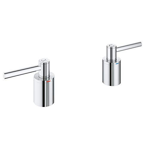 GROHE 18034003 Atrio Roman Bathtub Faucet Lever Handle, Starlight Chrome