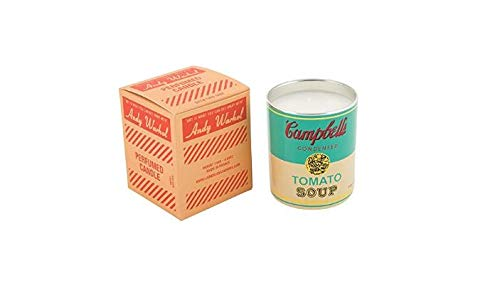 Andy Warhol Scented Campbell's Soup Can Candle - Turquoise / Yellow (Pop Wood Scent) Andy Warhol Campbells Soup Can