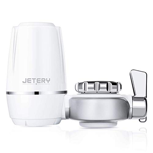 JETERY Faucet Water Filter Faucet Tap Water Purifier Filtration System 320-Gallon Long with Carbon Fiber Filter for Home Kitchen Bathroom Fits Standard Faucets