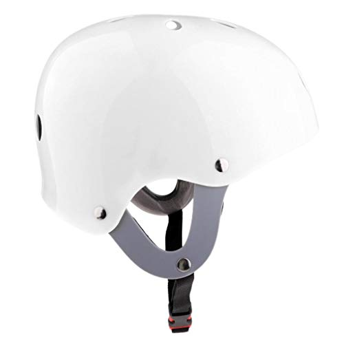 (Prettyia CE Approved Water Sports Safety Halo Helmet for Wakeboard Kayak Canoe Surfing Jet Ski Skate Scooter Protection Head Gear - White )