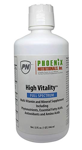 311t95URFKL - Phoenix Nutritionals High Vitality Natural Liquid & Vitamin Mineral Supplement, High Energy, Anti-Aging Formula, Mixed Fruit Flavor, Gluten Free, Sugar Free, Highly Absorbable