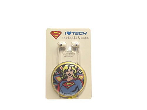 Spoontiques Universal/Smartphones - Supergirl Earbuds with Case