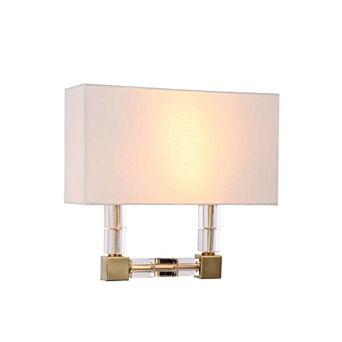 Elegant Lighting 1461W13BB Cristal Collection 2-Light Wall Sconce, 13