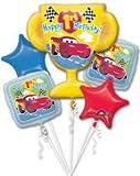 Disneys Cars Trophy Five Piece Balloon Bouquet, New Arrival