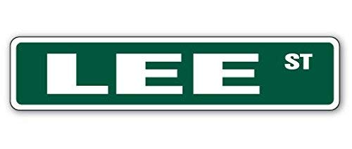 New Plastic Road Sign Great LEE Street Sign Childrens Name Room Sign for Outdoor & Indoor 3x9 Inch