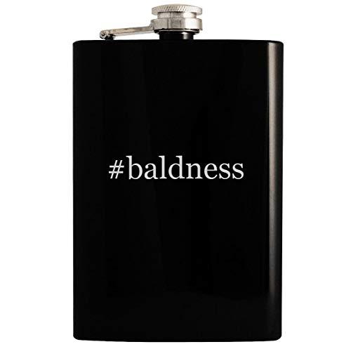 (#baldness - Black 8oz Hashtag Hip Drinking Alcohol Flask)