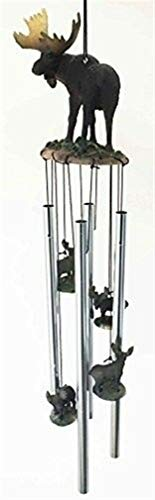 Ky & Co YesKela The Emperor North Amrican Moose Resonant Relaxing Wind Chime Garden Patio