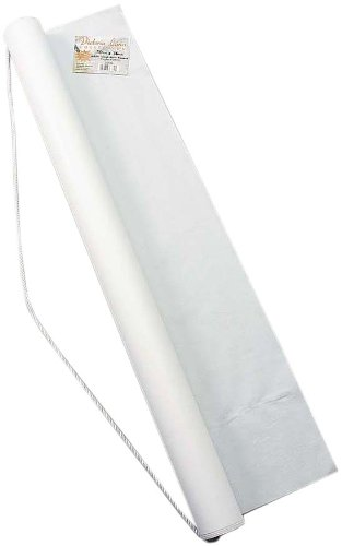 Darice White Poly Linen Aisle Runner - Adhesive Strip, Rope Handle for Easy Unrolling - for a Beautiful Walk Down The Aisle - Elegant Accent for Weddings and Special Events, 36