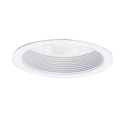 (EATON Lighting 406WWB 6-Inch Baffle Trim with Reflector, White Baffle with White Reflector)