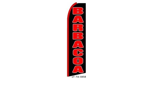 Amazon.com : Barbacoa King Size Swooper Flag Sign : Business And Store Signs : Office Products