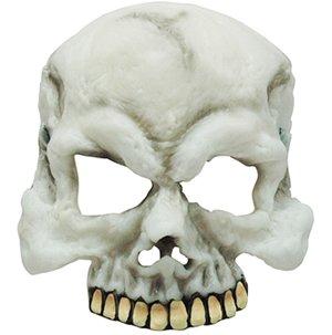 [Glow In The Dark Skull Half Face Mask] (Half Skull Mask Costume)