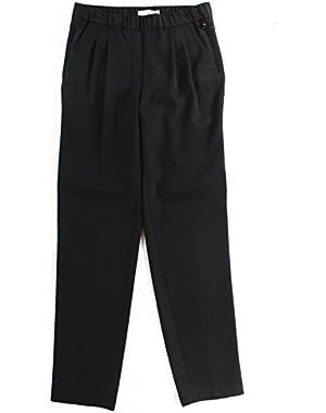 Calvin Klein Women's Petite Pleated Dress Pants Black 12P