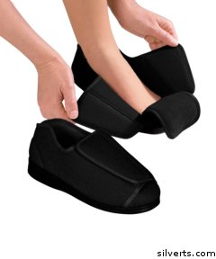 db7687efbf9 Image Unavailable. Image not available for. Colour  Womens Extra Extra Wide  Width Adaptive Slippers - Diabetic ...