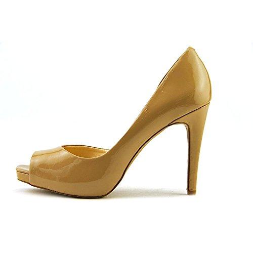 Jessica Simpson Peep Toe Pumps (Jessica Simpson Womens Jaselle Peep Toe D-orsay Pumps, Nude, Size 5.0)