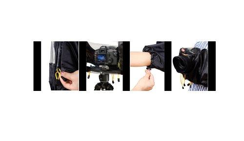 Polaroid SLR Rain Cover Protector For The Panasonic Lumix DMC-G3, DMC-GF3, DMC-G1, DMC-GH1, DMC-GH2, DMC-GH3, DMC-GH4, DMC-L10, DMC-GF1, DMC-GF2, DMC-G10, DMC-G2, DMC-GF3, DMC-G3, DMC-GF5, DMC-G5, DMC-GF6, DMC-G6, DMC-GX7, DMC-GM1 Digital SLR Cameras