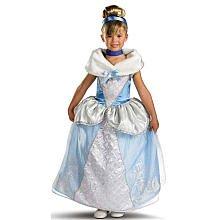 Disney Princess Storybook Prestige Cinderella Halloween Costume - Child Size Medium 7-8 - Blue