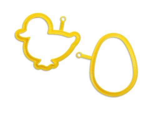 Silikomart Pratika Collection 2-Piece Egg and Pancake Mold Shape Set, Duck and Egg
