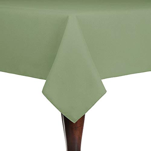 (Ultimate Textile Cotton-Feel 52 x 70-Inch Rectangular Fine Dining Tablecloth Sage Green)