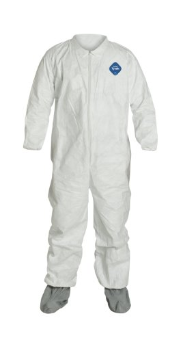 Dupont Tyvek 400 TY121S Protective Coverall with Boots, D...