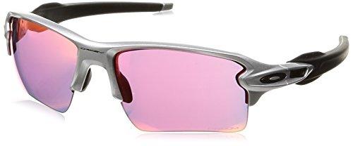Oakley Men's Flak 2.0 XL Non-Polarized Iridium Rectangular Sunglasses, Silver, 59.0 ()
