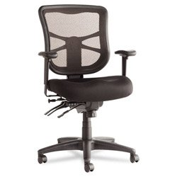 - Alera ALEEL42ME10B Elusion Series Mesh Mid-Back Multifunction Chair, Black