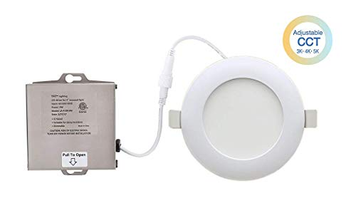 YAY LED 4'' Ultra-Thin Recessed Ceiling Light with Junction Box, Color Temperature Selectable, Dimmable Downlight, ETL & Energy Star - IC-Rated - 10W - 900 Lumens - 3 in 1 (3000K/4000K/5000K)