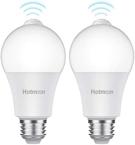 100W Equivalent 2 Pack Motion Sensor Light Bulbs 12W E26 Base Motion Activated