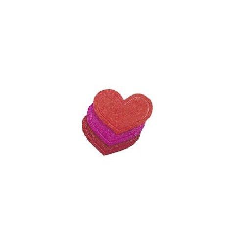 Kleine Wolke, Mini cuori antiscivolo per doccia e vasca, Rosa (rosa) 4209408948