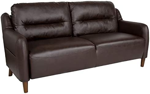 Flash Furniture Newton Hill Upholstered Bustle Back Sofa