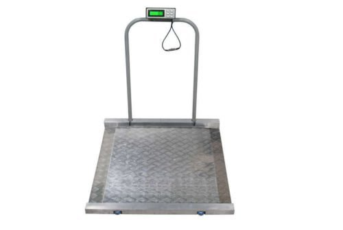 Tree Scales Portable Large Digital Wheelchair and Drum Scale - 800 Lbs X 0.2 Lbs - Medical Chair Scale