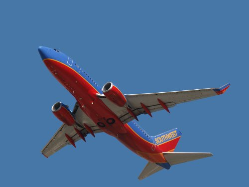 Chibi Southwest 737 Flyover Glossy Poster 45