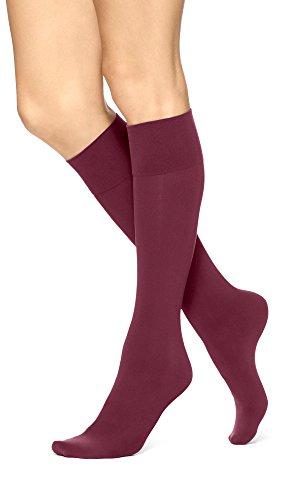 Hue Simply Skinny Knee Sock (Deep (Hue Knee High Socks)