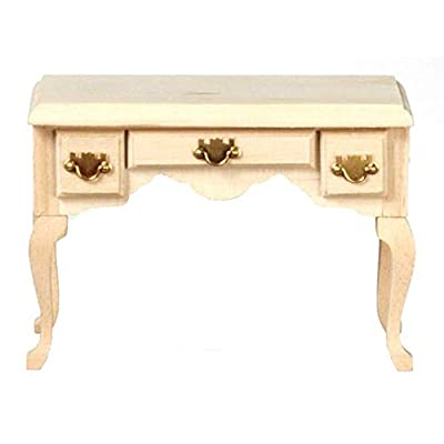 Melody Jane Dolls Houses Unfinished Writing Desk Secretary Table Miniature Study Furniture: Toys & Games