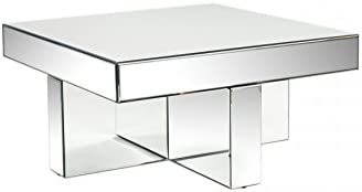 Statements by J Lucy Mirrored Coffee Table, 18.5 Inch Tall, Silver