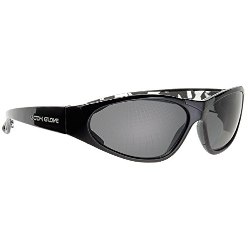 Body Glove 90242 Polarized High Impact Safety Glasses, Black Frame, Gray - Cause Can Headaches Sunglasses