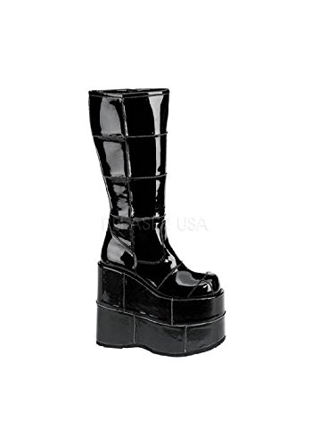 Pleaser Men's Stack-301 Platform Boot,Black Patent,8 M US