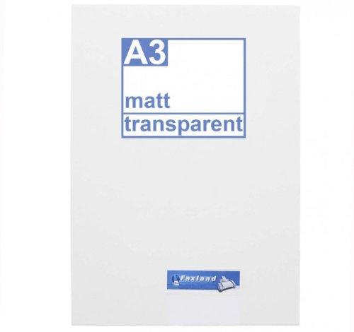 Klebefolie 10 x DIN A3 transparent matt - Druckerfolie, klebend, zum bedrucken, Wetterfest, Wasserfest für Laserdrucker, Outdoor
