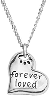 product image for Rockin Doggie Sterling Silver Necklace, Forever Loved Heart