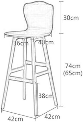Luxe Premium Stoel Kruk Effen Hout Barkruk Hoge Stoel Europese Stijl Bar Creatieve Houten Kruk Voeten Roterend Gewicht: 6kg