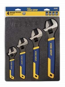 Vise Adjustable Metric (IRWIN VISE-GRIP Adjustable Wrench Set, 4 Piece, 2078706)