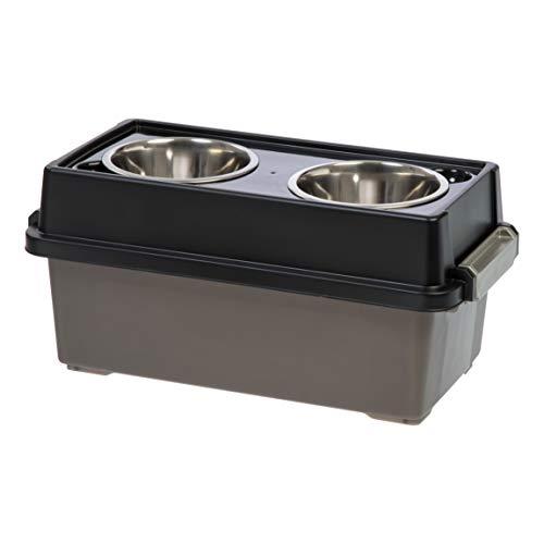 IRIS Medium Elevated Feeder with Airtight Storage, - Feeder Dog Food Storage