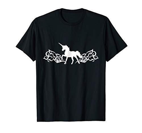 Tribal Tattoo Arm Band Inspired Unicorn T Shirt White