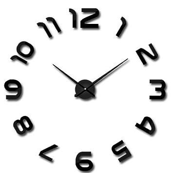 Amazon.com: HUAGNYAHUI wall clock Super Diy Watch 3D Living Room Wall Clock Art Decorative Wall Stickers Wall Clock Digital Quartz Clock,Gold Trumpet: Home ...