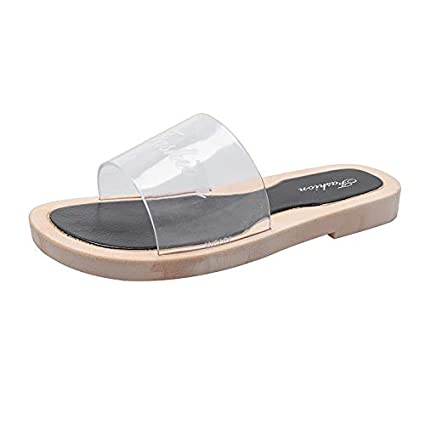 f0400ea4f6bd6 Amazon.com: Mother's Day Sale! Jiayit Women Clear Slippers Shoes ...